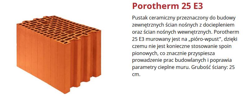 Pustaki Scienne Porotherm Wienerberger Golden Zloty Partner W